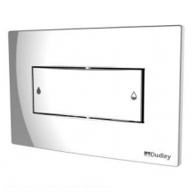 Dual Plush Push Plate Dudley Coral 232mm x 152mm Chrome