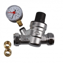 15/22 Pressure Reducing Valve complete with Gauge