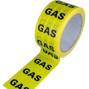 ID Tape inchGasinch Yellow/Black 50mm x 33m