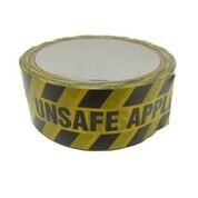 ID Tape inchUnsafe Applianceinch Black/Yellow 38mm x 33m