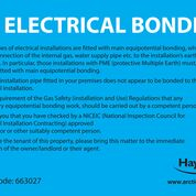 Electrical Bonding Labels (Pack of 10)