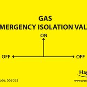 Gas Emergency Isolation Valve Labels (Pack of 10)
