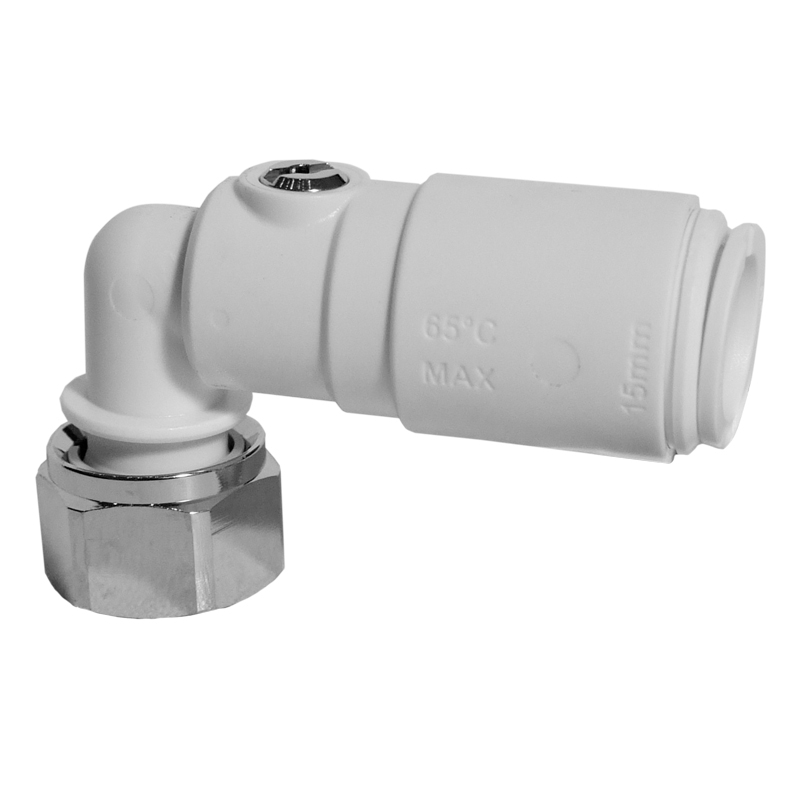 Angled Service Valve with Tap Connector