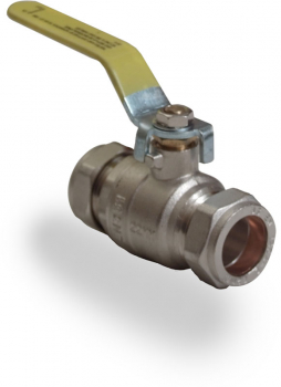 Yellow Lever Ball Valves CxC