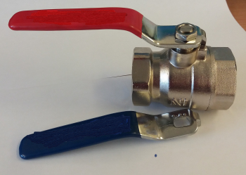 Red/Blue Lever Valve F x F
