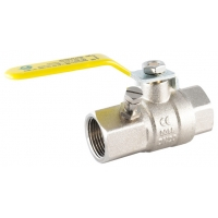 Yellow Lever Ball Valves FxF c/w Test Point