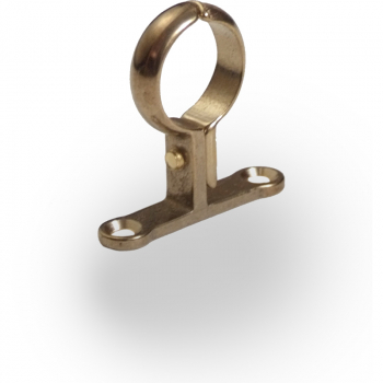 Cast Pipe Clips School Board Brass
